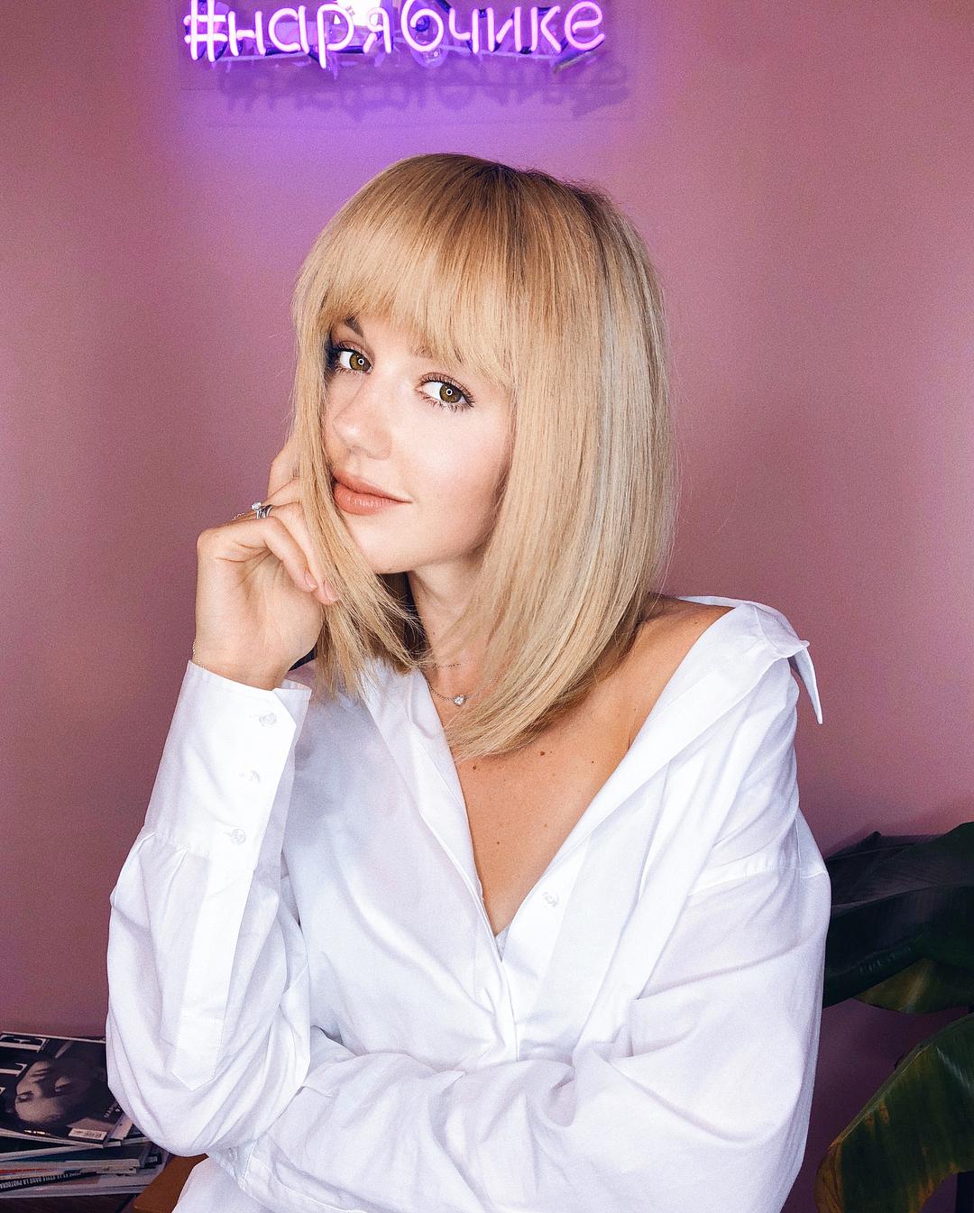 Юлианна Караулова: Встречайте: ее волосейшество Челка!