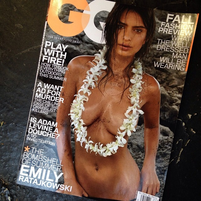 Эмили Ратаковски: Finally, here it is! My July cover for  @GQ   See the rest of my story and get the mag on stands today!