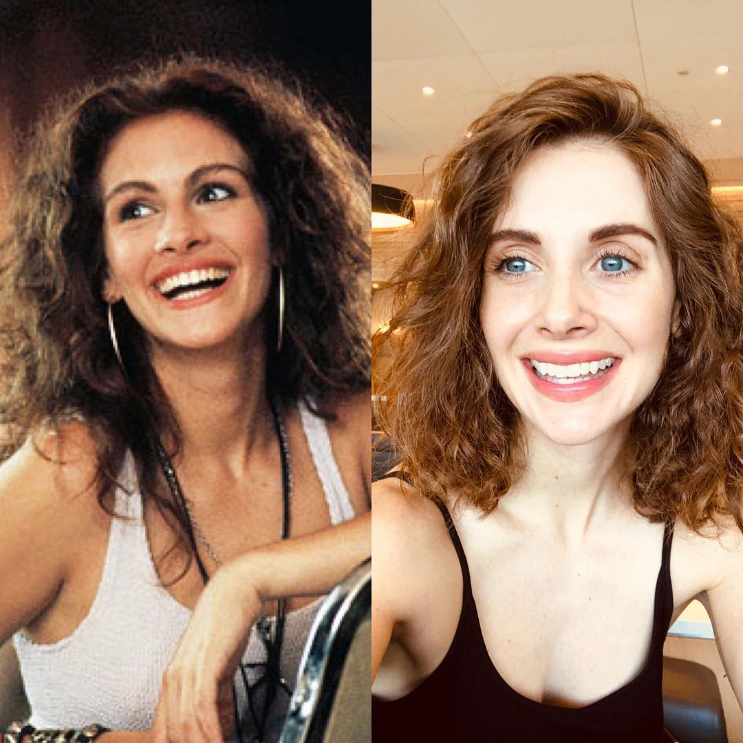 Элисон Бри: Man driving me to the airport asked if i was Julia Roberts from Pretty Woman...and...and...maybe i am??