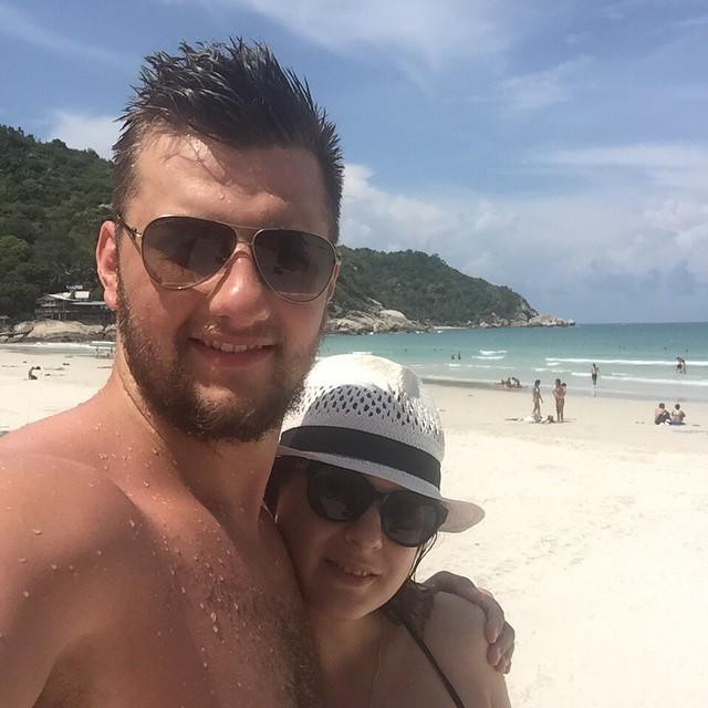 Анастасия Денисова: Счастье выглядит так!   #тай my #Thai  P.S. Пляжная вечеринка удалась, плясала пол ночи!