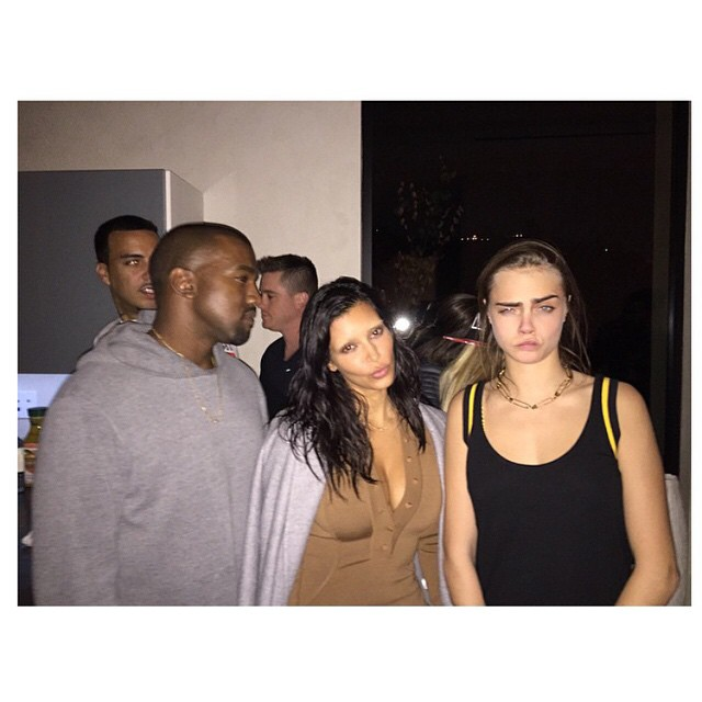 Кара Делевинь: #regram @kimkardashian #familyaffair