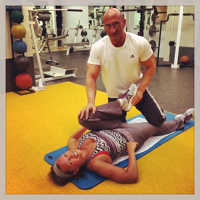 Ванесса Уильямс: @salsprofitness Good stretch after a killer workout  Summer is starts this weekend! #beachbody