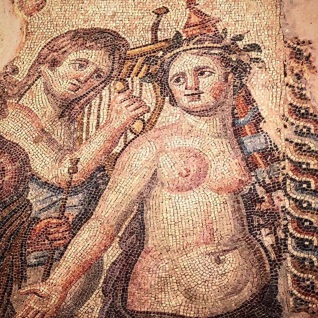 Эльвира Болгова: Античные мозаики... когда-то были полами во дворцах, которые давным-давно разрушены. И только неуемная фантазия моя может в одну секунду вновь воздвигнуть стены, связать  комнаты узкими переходами, а в залах расставить колонны, осветить это колосс...