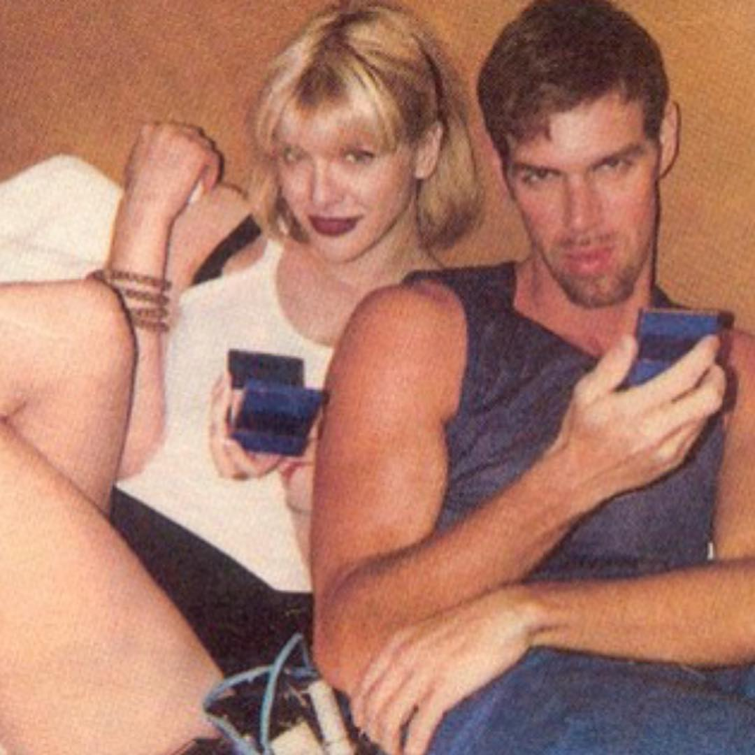Кортни Лав: 1997 with legendary make-up artist Kevyn Aucoin #KevynAucoin #CourtneyLove #1997