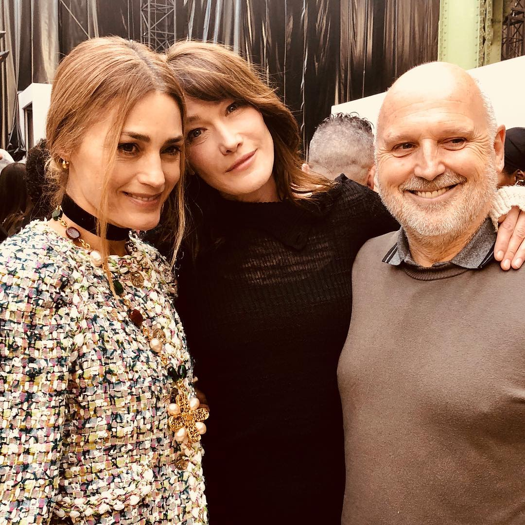 Карла Бруни: So lovely to see you  @yasminlebon @sammcknight1 and congrats for a great show @chanelofficial #chanel