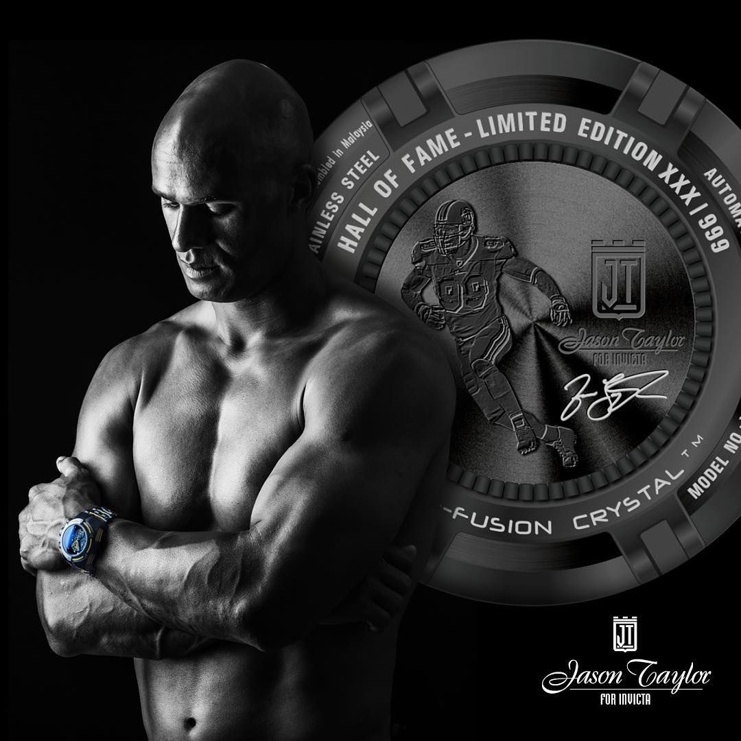 Ева Лонгория: Sending out warm congratulations to @jasontaylor for his induction into the Pro Football Hall of Fame. Enjoy every moment of this well deserved honor! @invictawatch @Technomarine#JasonTaylor #InvictaFamily #99 #Congrats #Technomarine