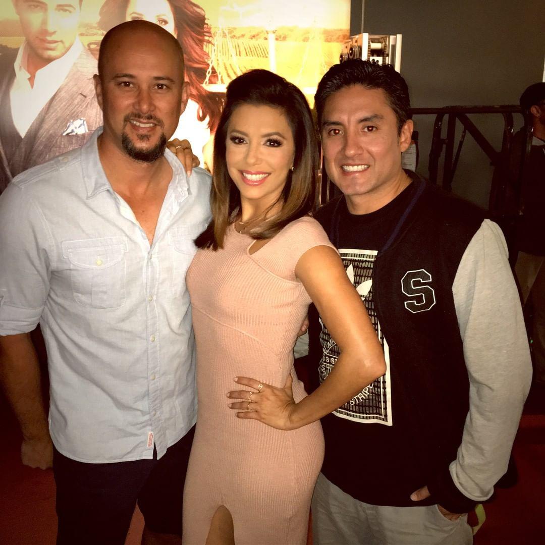 Ева Лонгория: Look who came to play today on @NBCTelenovela!! My dear friend @cjudd and @suavo #Telenovela #SomebodySayDanceNumber