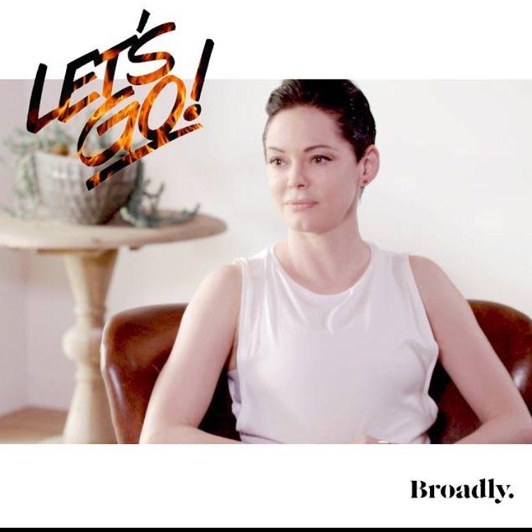 Роуз Макгоуэн: get the word out #Broadly #letsgo #RISE